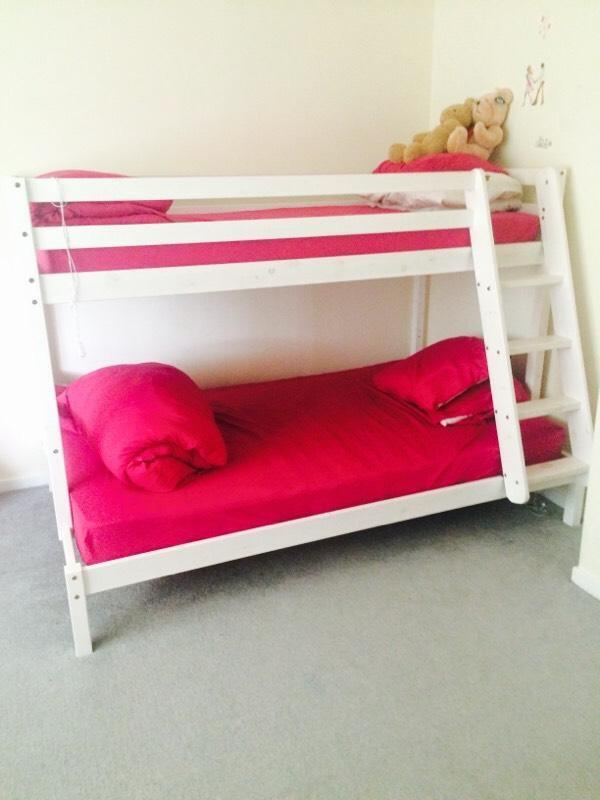 Wooden bunk beds double bottom buy sale and trade ads for Bunk bed with double on bottom
