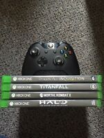 XBOX ONE CONTROLLER + GAMES