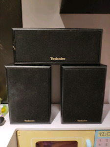 Vintage 3 technics speakers.