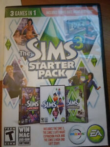 The SIMS 3 Starter Pack - 3 games in 1