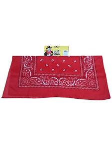 Cowboy Neckerchief Red Bandana Paisley Fancy Dress Accessory Headband Scarf New