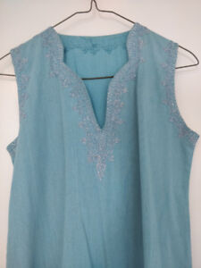 Lovely Blue Moroccan Dress $20 - Great Quality Cotton