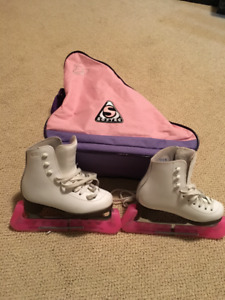GAM Jackson youth figure skates with carrying case