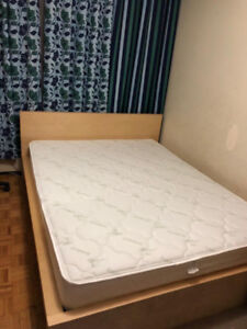 Ikea queen size bed.