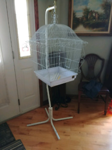 Ornate Square Bird Cage with Stand