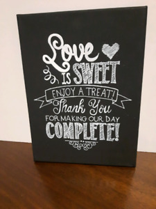 3 chalkboard signs - customizable
