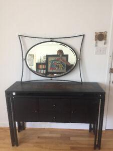 Console d'entrée et miroir à vendre/Entrance console and miror