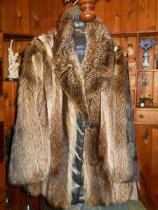 Manteau de fourrure court pour homme