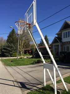 Portable basketball net