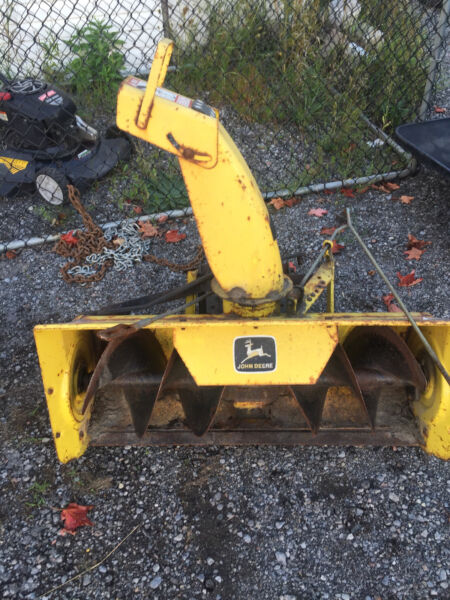 John Deere 170 P : John deere snowblower attachment sold pending p u