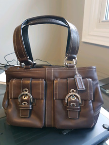 Coach purse and wallet - brown leather