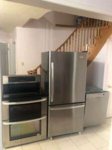 Stainless steel appliances fridge stove dishwasher for sale