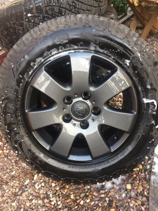 """VW T5 16"""" ALLOYS WITH GENERAL GRABBER OFF ROAD TYRES MINT CONDITION"""