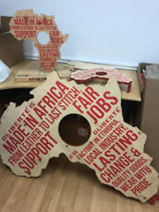 Wooden display signs