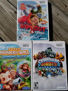 3  WII GAMES    ALL FOR $20.00