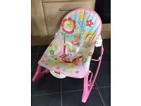 Fisher Price baby toddler rocker pink