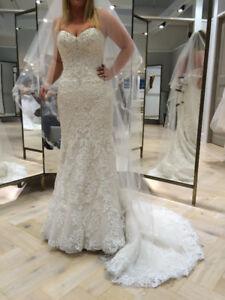 NWT Stunning Maggie Sottero Stella Ivory/Nude Wedding Dress