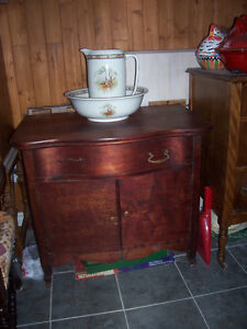 gorgeous antique washstand, waterfall front