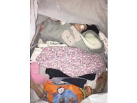 Big black bag girls age 3-4 clothes mostly next, gap, mothercare all on season
