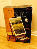 Artist's Studio Easel and Paint Set