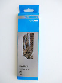 SHIMANO CN-HG71 chain for bikes with 6, 7 or 8 speed rear gears. (New)