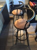 Two Bar Stools (25$ each of 33$ both) *SELL BY WEDNESDAY