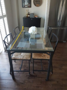 Glass Dining Table and Chairs - IKEA