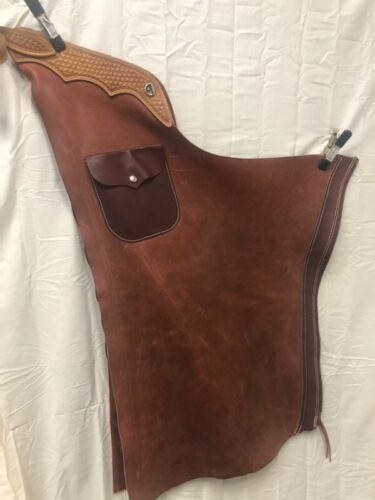 Shot Gun Chaps with Pocket Heavy 32 - 42 M S Leather Reno