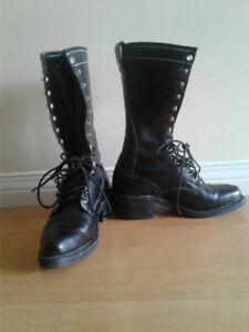 Women's Hand Crafted Dayton Black Sidekick Boots