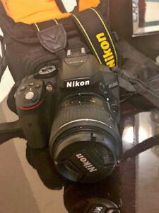 Nikon D5300 with Lenses 18-55 mm and 35mm