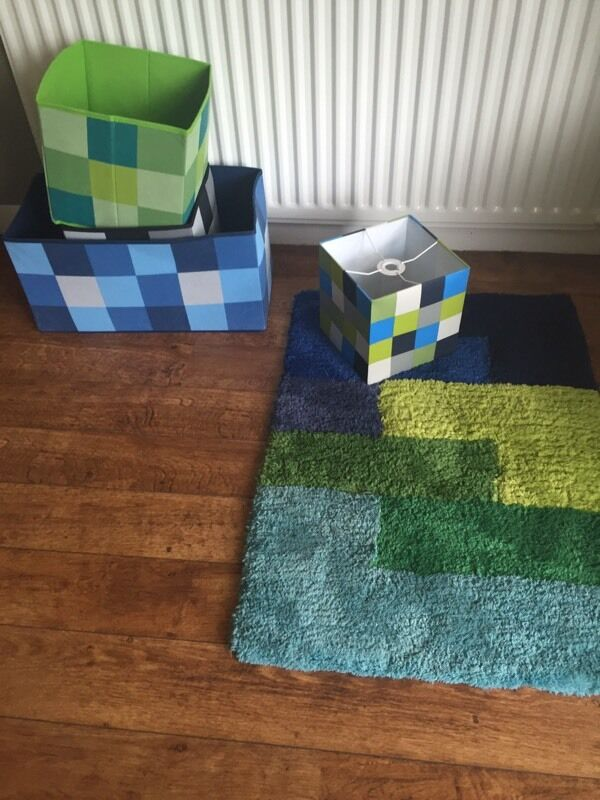 Minecraft rug lampshade 3 toy boxes in kilkeel county down minecraft rug lampshade 3 toy boxes aloadofball