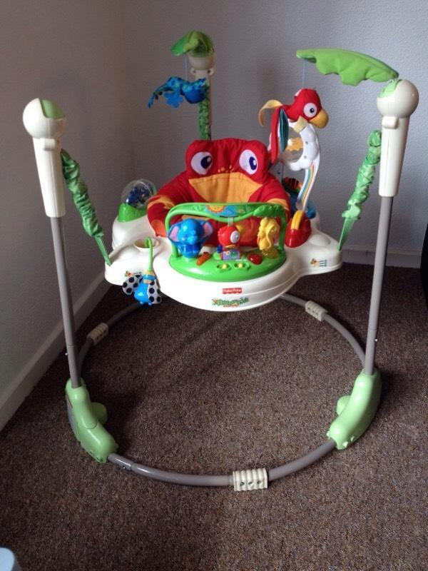 Jumperoo fisher price rainforest jumperoo in beeston for Door jumperoo