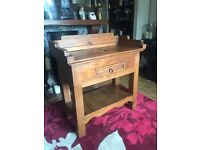 Solid wood side board hall table