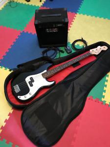 Bass Guitar with Amp