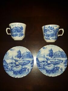Ridgway Ironstone Hayride Cup and Saucer - 2 Sets