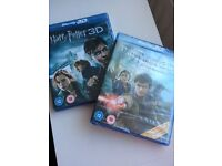 Harry Potter - Deathly Hollows part 1 & 2. Blu ray 3D.
