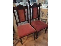 4 Solid Dark Wood Chairs