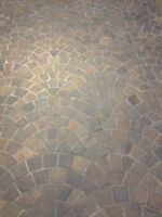 New Slate Tile Natural Stone Fan Pattern Mesh retails $5.5sq.ft