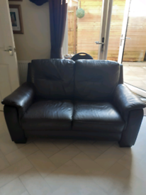 2 Two Seeter Leather Seaties Fair Condition Buyer to collect