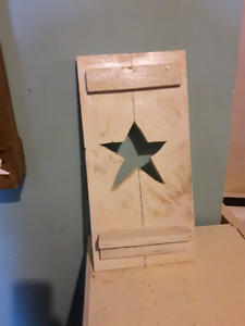 Homemade Hanging star sign with small shelf