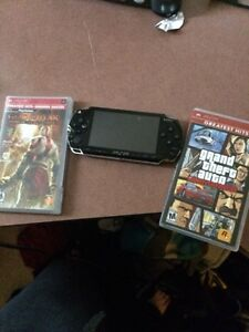 Psp with 2 games PlayStation