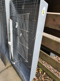 120cm Grey Feraplast Cage Indoor Guinea Pig Ferret Tortoise Chick