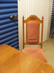 Dining Room Table + 6 Chairs Set Solid Wood