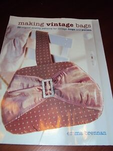 Making Vintage Bags, patterns, instructions and detailed diagram