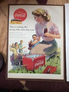Coca Cola magazine adds, 1950&1952