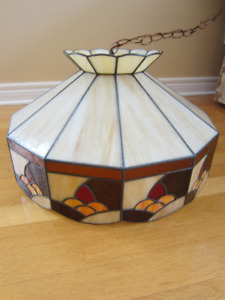 Tiffany Style Vintage Stained Glass Hanging Lamp Shade Lighting