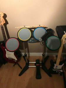 Full Set of Rock Band Instruments for Xbox