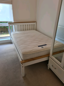 Small double bed and mattress