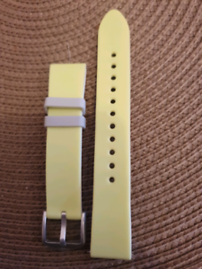 Lime Green Fossil 18mm Silicone Watch Strap