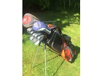 Full Set of Callaway X-18 irons with Callaway Driver and Bag